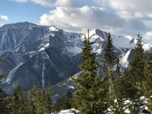 Spring Canyon as seen from Mount Yale in winter