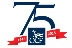 Officer's Christian Fellowship 75th anniversary logo